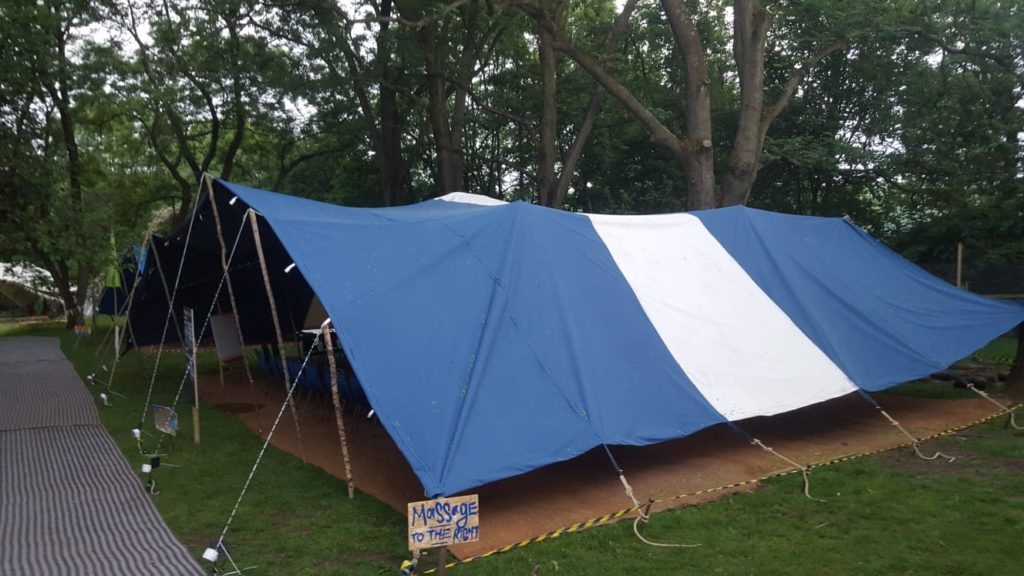 Dark Blue and White Berber marquee tent hire